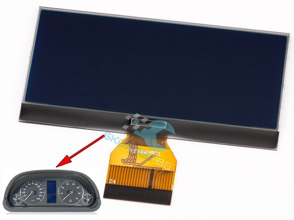 LCD Дисплей за Километраж Мерцедес MERCEDES A B ,7 волта