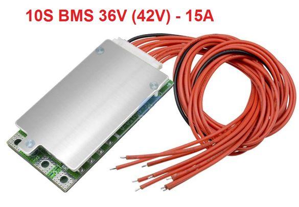 10S BMS 42V 15A, защитна платка с балансно зареждане, PCB BMS board