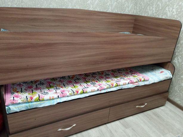 Подростковая раздвижная двухместная кровать