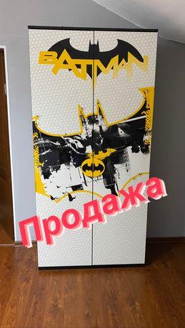 Детский шкаф двухдверный в стиле Бэтман