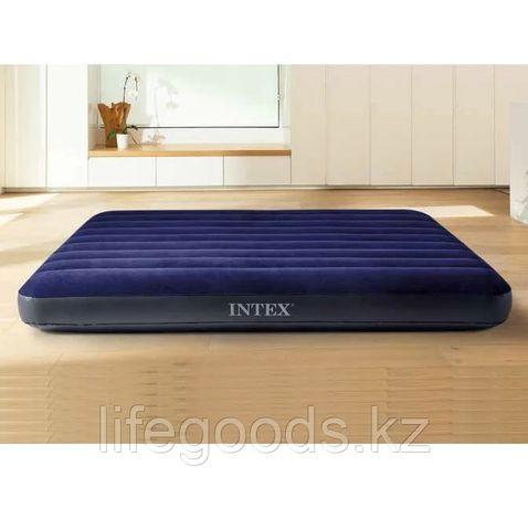 Надувной матрас двуспальный 152х203х25 см Fiber-Tech Intex 64759