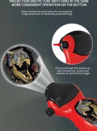 Детско Фенерче с Динозаври - Детски Прожектор с Динозаври