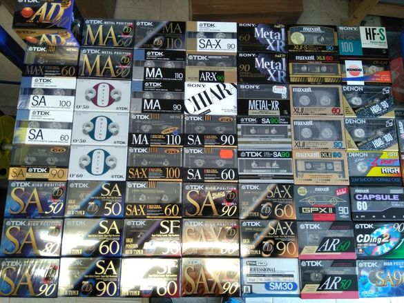 аудио касети TDK , SONY , MAXELL , BASF , THAT`S , FUJI нови