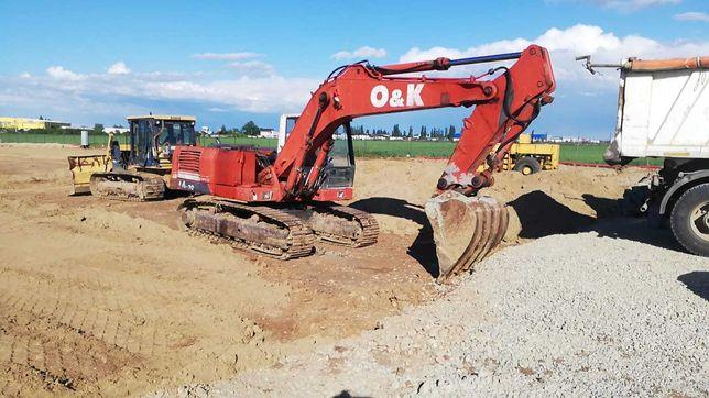 sapaturi, umpluturi, inchiriere: excavatoare, buldo, basculante