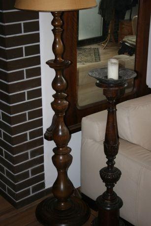 lampadar lemn sculptat de stejar