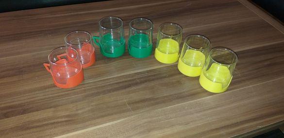 Стъклени чаши 7 броя