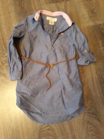 Rochie bumbac cu curea pentru fetiţă, 4-5 ani, 110 cm