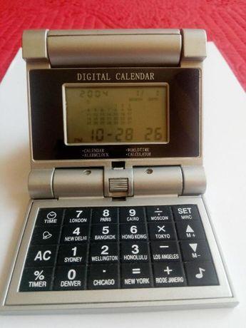 Ceas electronic de birou cu alarma calendar calculator