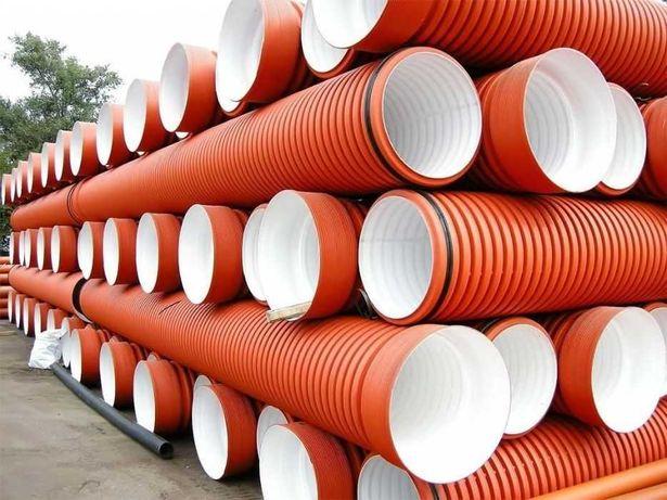 Трубы полиэтиленовые ПЭ гофрированные канализационные по низким ценам!