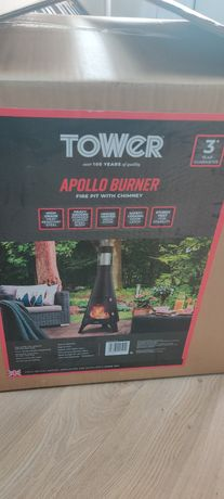 Tower Apollo Burner Firepit with Chimney