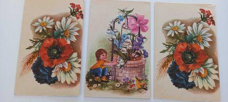 Felicitari vintage cu picturi cu flori (anii '80)