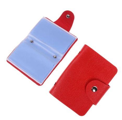 Port Card pentru femei culoare pe roșu