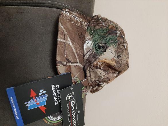 Продавам шапка Deerhunter (Камо/Оранж) с мембрана Deer-tex