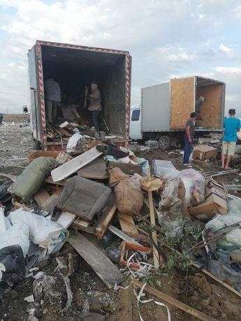 Вывоз мусора большие газели до 5 тонн грузчики