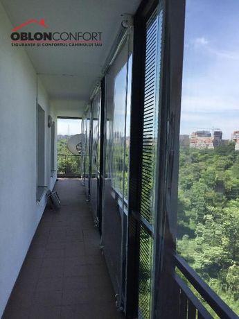 Inchideri terase cu rulouri transparente neincasetate