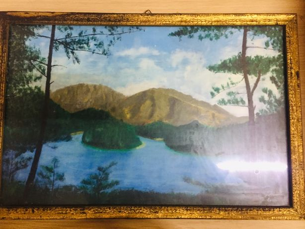 Tablou pictura ulei vintage semnat