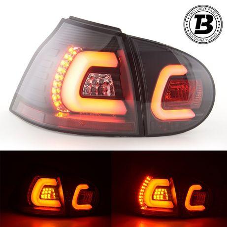 Stopuri LED VW Golf 5 (03-08) fumurii U Design cu fibra optica