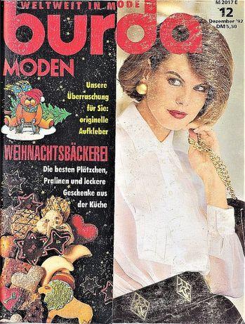 Burda revista moda croitorie insert in limba romana 67 tipare 12/1992