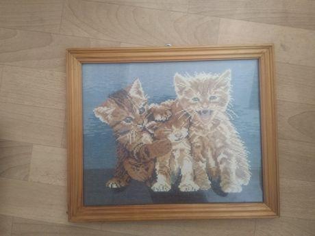 Ретро гоблен - котки трио