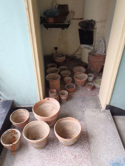 Ретро Керамични саксии за растения всякакви размери, употребявани и чи