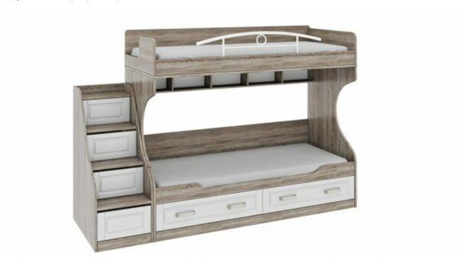 Двухъярусная кровать угловой шкаф письменный стол