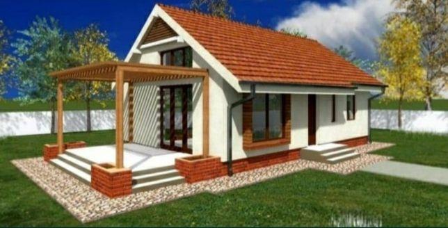 Vând și construim casă pe piloane de beton