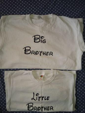 Блузи с надписи за малък и голям брат