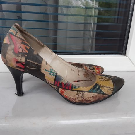 Pantofi piele naturala imprimata masura 36