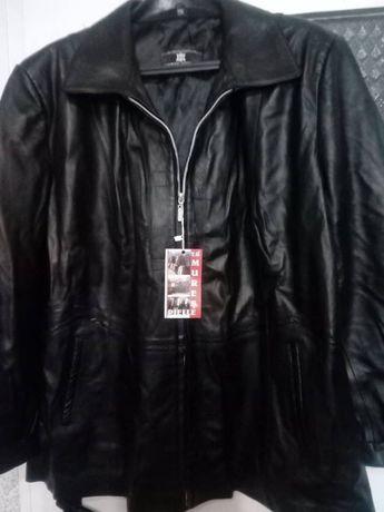 Дамско кожено яке. Голям размер.
