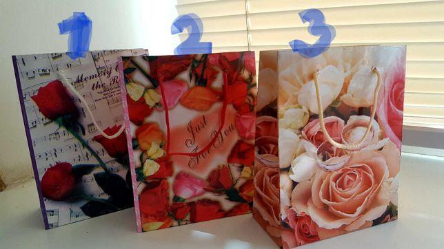 Пакеты  бумажные подарочные