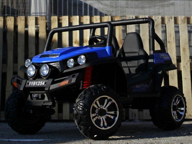 UTV electric pentru 2 copii Golf-Kart 4x4 24V cu Bluetooth #Albastru