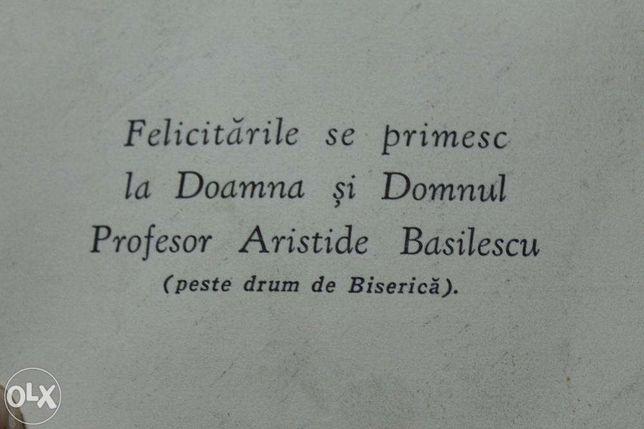 Vand card antichitate, obiect colectie apartinand Aristide Basilescu