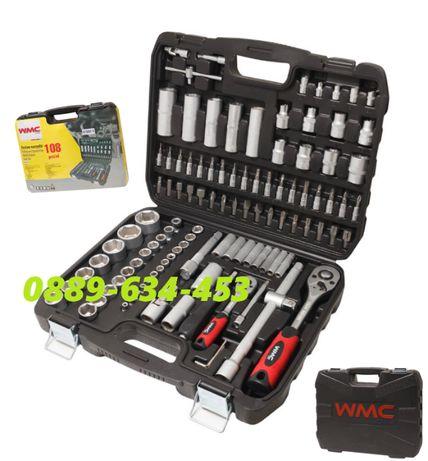 Качествено РУСКО гедоре от 108 части WMC в куфар инструменти гидоре