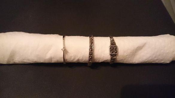 Нова цена 18 лв.! Старинни сребърни пръстени