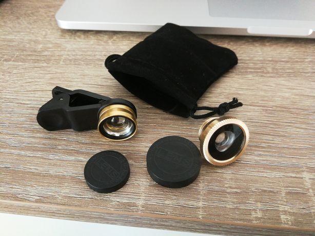 Set kit obiectiv lentila telefon macro wide fisheye smartphone