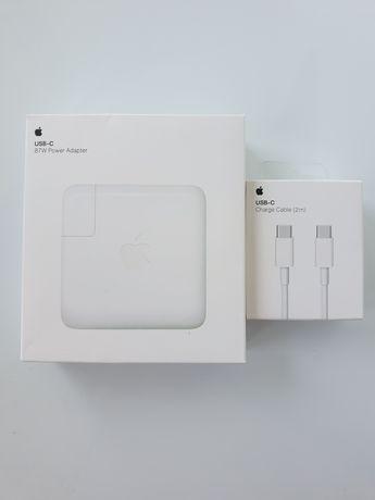 Incarcator Macbook Pro 87W ORIGINAL APPLE + Cablu USBC-USBC 2metri