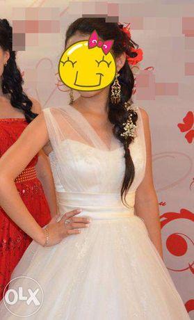 Платье айвори свадебное, на кыз узату