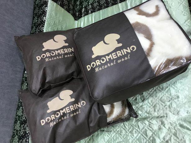 Одеяло и подушки из натуральной шерсти Doromerino