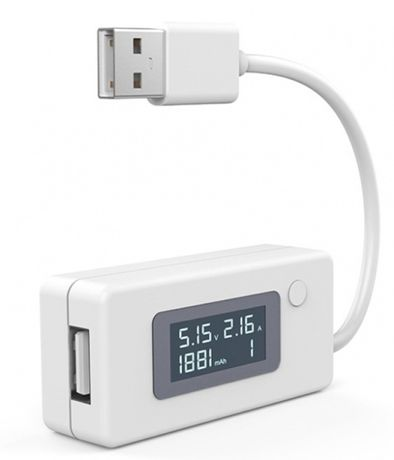 Тестер (измервателен уред) с LCD дисплей и USB вход и изход + Гаранция