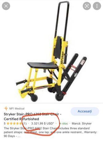 Scaun cu rotile și șenile(pentru scări)STRYKER 6252,228 KG,ca NOU