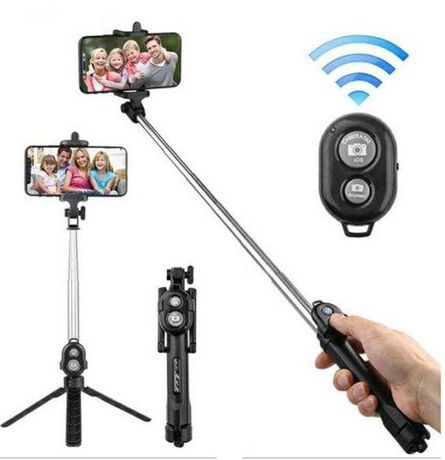 Selfie Stick Universal 2 in 1  Trepied Foto  Telefon bluetooth