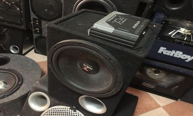 pachet amplificator auto mtx cu subwoofer focal 1000w sunet demential