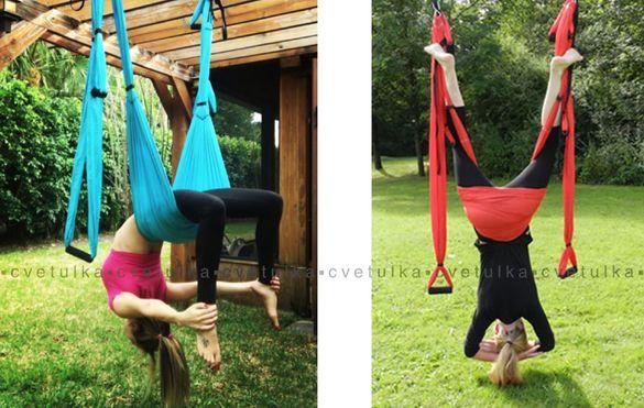 Нов хамак за въздушна йога Люлка за йога флай * Yoga fly swing