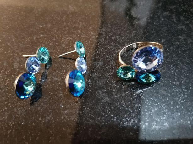 Set bijuterii argint cu pietre swarovski