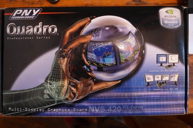 Placa video PNY Quadro NVS 420 512MB DDR3 128-bit (VCQ420NVS-X16-PB)