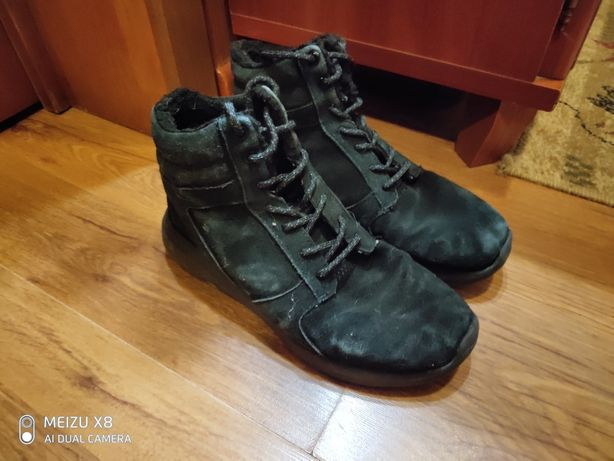 Кроссовки зимние черные