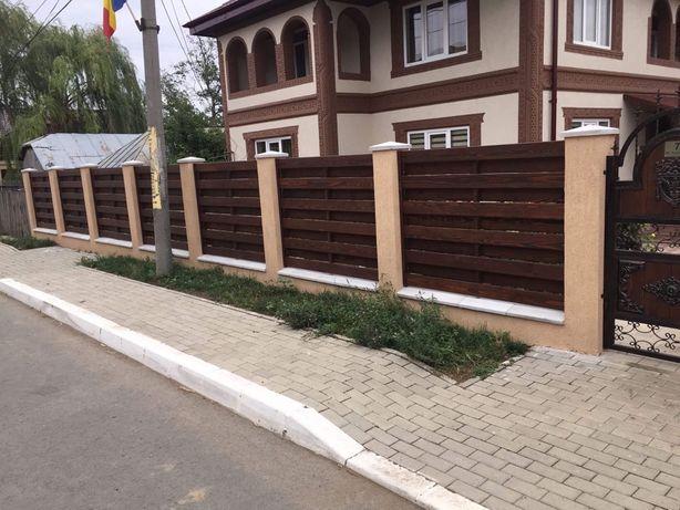 Placa lemn gard model fata spate