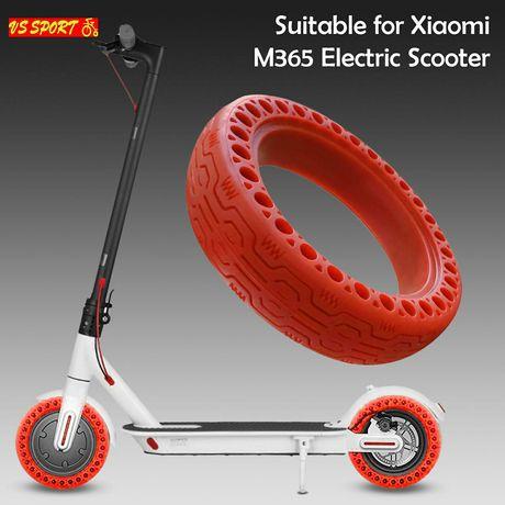 Безкамерна гума за Xiaomi M365 8.5 • Твърда гума червена 8.5 • M365