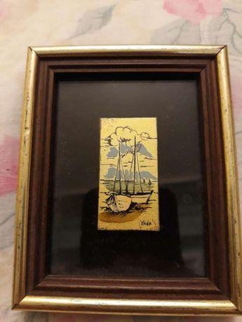 Vand/schimb tablou cu foiță de aur