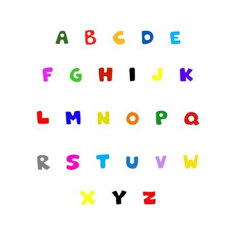 Litera decorativa A-Z mare, lemn colorat, inaltime 15cm